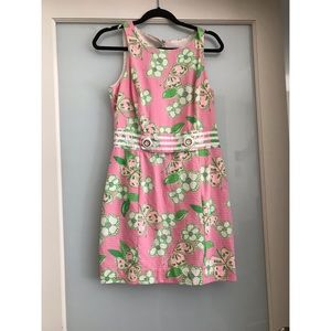 Lilly Pulitzer Pink and Green Dress Sz4